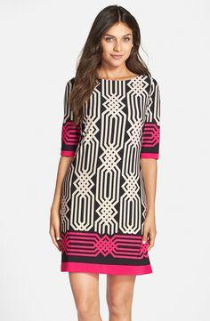 Print Jersey Shift Dress (Regular & Petite)