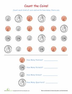 Worksheets: Coin Recognition