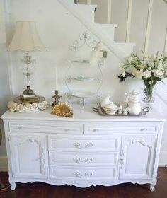 All from thrift shops. A little elbow grease, spray paint and imagination and you've created shabby chic decor. - MRW