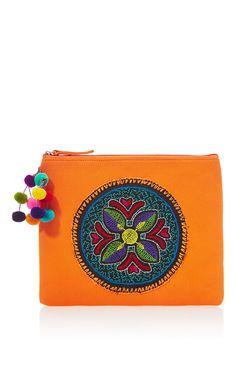 Orange Shipibo Clutch by NANNACAY for Preorder on Moda Operandi