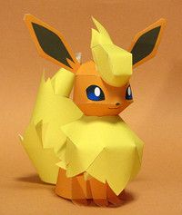 flareon paper craft