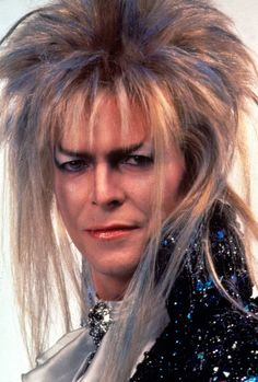 1986 - David Bowie as Jareth, The Goblin King in Labyrinth film.                                                                                                                                                      More