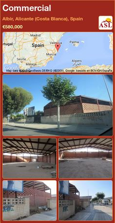Commercial for Sale in Albir, Alicante (Costa Blanca), Spain - A Spanish Life Alicante, Murcia, Main Street, Maine, Spanish, Commercial, Building, Palmas, Buildings