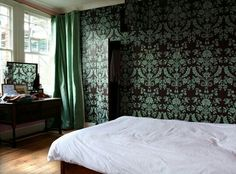 Wallpaper wardrobes Designed by Paul Ford  http://www.inspired-design-uk.co.uk/interior-projects/wallpaper-wardrobes/