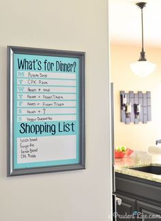 We have been on a roll of dining out WAY too much lately. It is killing our budget & the scale. So I made a DIY Menu Planning Board!