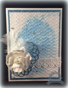 Couture Creations: All Occasions Glitter Card by Tracey Cooley