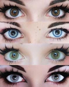 Want to enlarge your eyes secretly and silently? TTDeye provides a range of natural contacts, make your eyes bright and clear while keeping a natural look on you. Gorgeous Eyes, Pretty Eyes, Cool Eyes, Colored Eye Contacts, Natural Color Contacts, Eye Color Chart, Eye Contact Lenses, Aesthetic Eyes, Circle Lenses