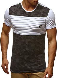 LEIF NELSON Herren T-Shirt Hoodie Longsleeve Kurzarm Shirt Sweatshirt  Rundhals Camouflage LN405  Grš 3d3f9fb2f4156