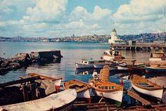 Salacak'tan Kız Kulesi'nde bakış (1967) Üsküdar / İstanbul
