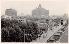 Shanghai China Bird's Eye View Avenue Joffre Real Photo Postcard Y2757 | eBay