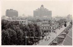 Shanghai China Bird's Eye View Avenue Joffre Real Photo Postcard Y2757 | eBay