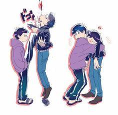 ichimatsu, osomatsu-san, and karamatsu image Anime Love, All Anime, Anime Guys, Anime Art, Otaku Anime, Kawaii Anime, Japanese Show, Yuka, Osomatsu San Doujinshi
