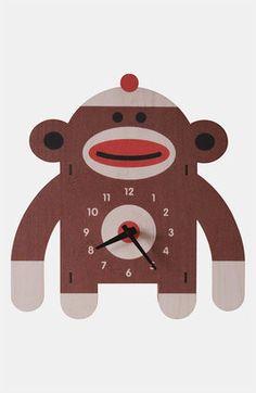 Modern Moose Sock Monkey #Clock  #15things