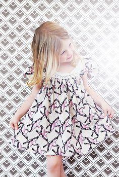 wallpaper and lovely little dress
