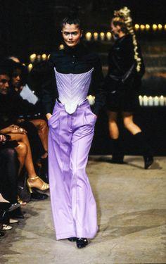 Helena Christensen, Alexander McQueen Fall 1996 Ready-to-Wear Collection Photos - Vogue