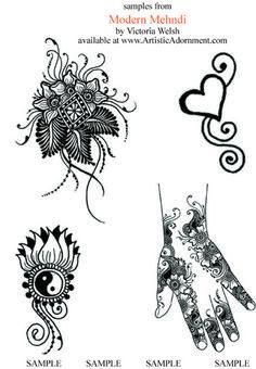 cute modern henna designs