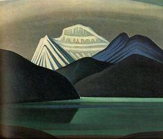 Mountaisn and Lake - Harris Lawren - WikiArt.org