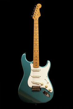 1993 sonic blue fender (japanese) stratocaster solid-body electric guitar