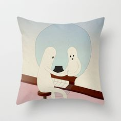 r i f l e s s o c o n d i z i o n a t o Throw Pillow by Marco Puccini - $20.00