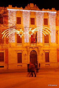 Pamplona - Parlamento de Navarra    Fachada principal del edificio del Parlamento de Navarra, antigua Audiencia, situado en la Avenida de las Navas de Tolosa, visto desde el Paseo de Sarasate.