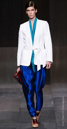 Damir Doma - Spring 2013 turquoise and blue