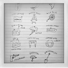 Repost from Susie Cave (@thevampireswife) on Instagram: Lovely Creatures, it all started with some drawings Nick had made in his notebook a few years ago