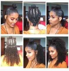 Curly half up half down weave
