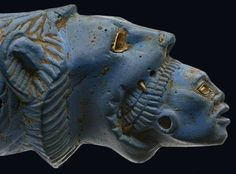 Lion devouring Nubian. 19th dynasty, c. 1292-1186 B.C.                                                                                                                                                      More