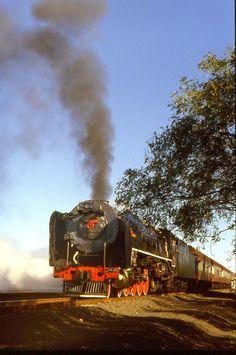 Steam train in South Africa Locomotive Engine, Steam Locomotive, South African Railways, Trans Siberian Railway, Abandoned Train, Steam Railway, Steam Engine, Train Tracks, World Best Photos