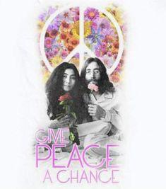 """John Lennon & Yoko Ono """"Give Peace A Chance"""" ☮️"""