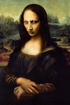Find images and videos about art, Marilyn Manson and mona lisa on We Heart It - the app to get lost in what you love. Leonardo Da Vinci Zeichnungen, Lisa Gherardini, Arte Do Hip Hop, La Madone, Mona Lisa Parody, Mona Lisa Smile, Rock Poster, Macabre, Akita