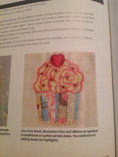 Appliqué cupcake