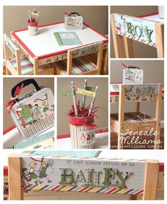 By Teneale Williams - Hybrid My Digital Studio {MDS} project. Using Storytime Digital download. Kids craft table fr...