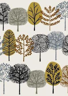 様々な種類の樹をモチーフにした作品。彼女の自然を愛する気持ちが伝わってきます。