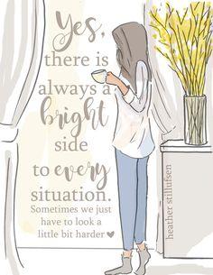 Encouragement Cards for Women Art for by RoseHillDesignStudio