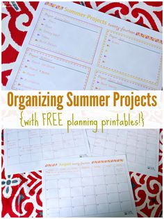Need help organizing summer projects? Grab these cute free printables and get planning!