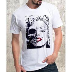 T-shirt Tshirts funny tshirts plus size tshirts Tshirt Two Faces, Funny Tshirts, Man Birthday, Shirt Designs, Marilyn Monroe, Plus Size, Trending Outfits, Mens Tops, Cotton