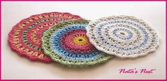 Natas Nest: Rainbow Mandala - Free Crochet Pattern / arcobaleno Mandala - Free pattern di Crochet