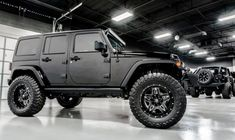 2015 Jeep Wrangler Unlimited Rubicon w/Hardtop Wrangler Unlimited Sport, 2014 Jeep Wrangler, Black Jeep, Custom Jeep, Car Gadgets, Roll Cage, Jeep 4x4, Saddle Leather, Custom Leather
