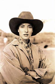 Tatjana Patitz photographed by Arthur Elgort for Vogue October 1989