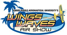 Wings and Waves Air Show over the Atlantic Ocean in Daytona Beach, Florida