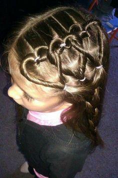 Valentine's hair
