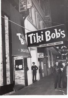 1959 Photo Of San Francisco Restaurant TIKI BOB'S