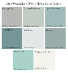 Whole House Color Palette. Whole House Color Palette. Whole House Color Palette. Whole House Color Palette Via SwankyLuv.