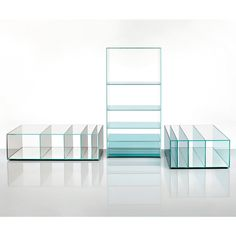 Shop SUITE NY for the Deep Sea Collection designed by Nendo for Glas Italia and more modern furniture including modern glass occasional tables and bookcases. Coffe Table, Coffee Table Design, Glass Furniture, Modern Furniture, Storage Shelves, Shelving, Shelf, Glass Bookcase, Low Tables