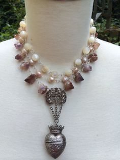 LUCKY in LOVE Romantic Triple Strand Necklace by DRAMAJEWELRY  Love beyond reason!!!!