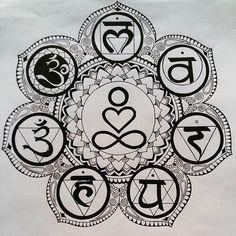 An Introduction To Bikram Yoga Chakra Tattoo, Chakra Art, Yoga Symbols, Chakra Symbols, Mandala Tattoo Design, Mandala Drawing, 7 Chakras Meditation, Yoga Tattoos, Yoga Art
