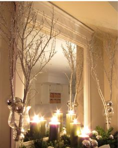 ♥♥give ur mirror spark with icy effct tree branches♥♥like&share♥ #Home #Garden #Trusper #Tip
