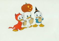 Production Cel of Donald's Nephews from Trick of Treaters