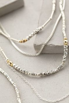 Silver Stardust Layered Necklace - anthropologie.eu